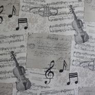 Dekostoff, Druck, Musik, Noten, 5633