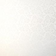 Deko žakard, obojestranski, cvetlični, 18111, smetana