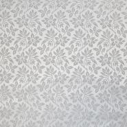 Deko žakard, obojestranski, cvetlični, 18112, siva