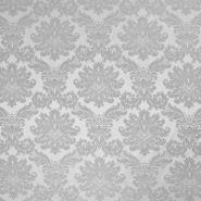 Deko žakard, obojestranski, barok, 18114, siva