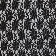 Čipka, nanos, pike, 18128-4, črna