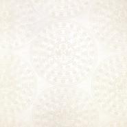 Organza, vezenina, geometrijski, 18128-19, smetana