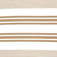 Jersey, viskoza, crte, 18131-21, bež