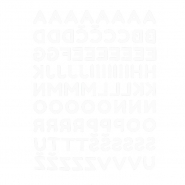 Preslikač, črke, 18135-1, bela