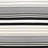 Jersey, viskoza, črte, 18133-06, črna smetana