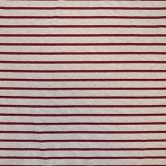 Jersey, viskoza, črte, 18133-07, rdeča