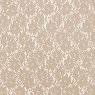 Čipka, elastična, cvetlični, 18132-09, bež