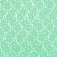Čipka, elastična, cvetlični, 18132-23, mint