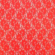Čipka, elastična, cvetlični, 18132-31, losos