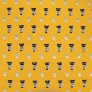 Jersey, organski bombaž, živalski, 18139-08, rumena