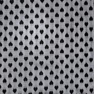 Mreža elastična, poliester, srčki, 18149, črna