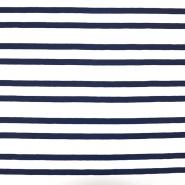 Jersey, pamuk, crte, 18133-17, bijelo-plava