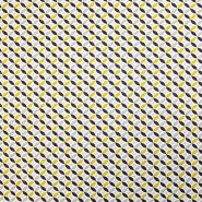 Bombaž, poplin, geometrijski, 18172-3, rumena