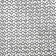 Bombaž, poplin, geometrijski, 18173-2, sivo srebrna