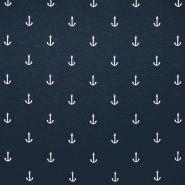 Jersey, organski bombaž, morski, 18181-150, modra