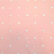 Jersey, organski bombaž, križci, 18188-12, roza