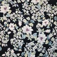 Saten, bombaž, cvetlični, 18159-08