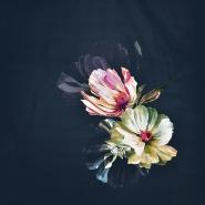 Saten, bombaž, cvetlični, 18159-18