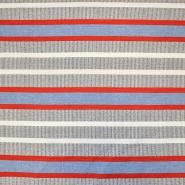 Saten, bombaž, črte, 18159-26