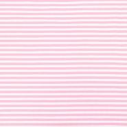 Jersey, pamuk, crte, 17622-011, ružičasta