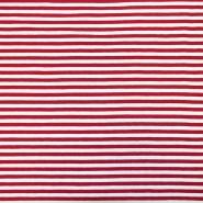 Jersey, pamuk, crte, 17622-015, crvena