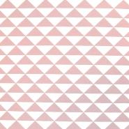 Deko, tisk, geometrijski, 17882-13, roza