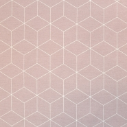Deko, tisk, geometrijski, 18223-013, roza