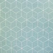Deko, tisk, geometrijski, 18223-022, mint