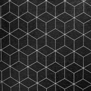 Deko, tisk, geometrijski, 18223-069, črna