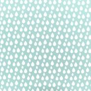 Deko, tisk, kapljice, 17885-022, mint