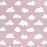 Deko, tisk, oblaki, 18224-013, roza