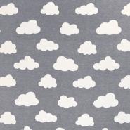 Deko, tisk, oblaki, 18224-068, siva