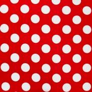 Bombaž, poplin, pike, 18244-11, rdeča