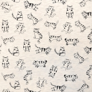 Jersey, živalski, 18241-020, sivo bež