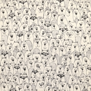 Jersey, živalski, 18242-020, sivo bež
