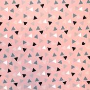 Jersey, bombaž, geometrijski, 18258-011, roza