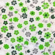 Deko, tisk, cvetlični, 18275-6026, zelena