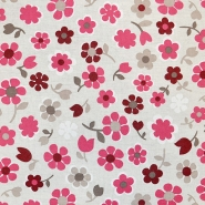 Deko, tisk, cvetlični, 18275-6029, rdeča