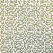 Bombaž, poplin, geometrijski, 18279-142, zelena