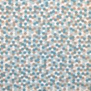 Bombaž, poplin, geometrijski, 18279-140, turkizna