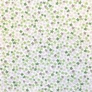 Bombaž, poplin, cvetlični, 18279-149, zelena
