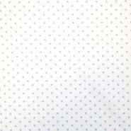 Pamuk, popelin, srca, 18280-45, bijelo-plava