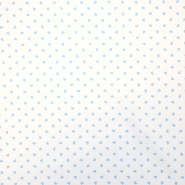 Bombaž, poplin, srčki, 18280-45, belo modra