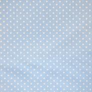 Bombaž, poplin, srčki, 18280-49, modra