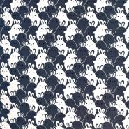 Jersey, bombaž, živalski, 18283-001, modra