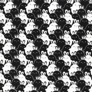 Jersey, bombaž, živalski, 18283-003, črna