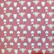 Jersey, bombaž, živalski, 18290-018, alt roza