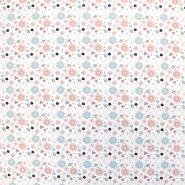 Jersey, bombaž, cvetlični, 18292-050, bela