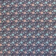 Jersey, bombaž, cvetlični, 18292-045, siva