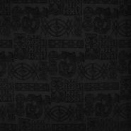 Mreža elastična, poliester, ornamentni, 2649-104, crna